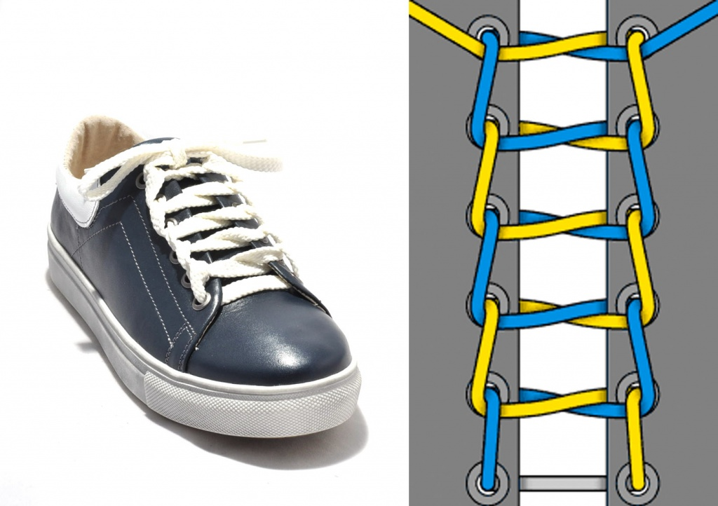 картинки как завязывать шнурки кеды хочет