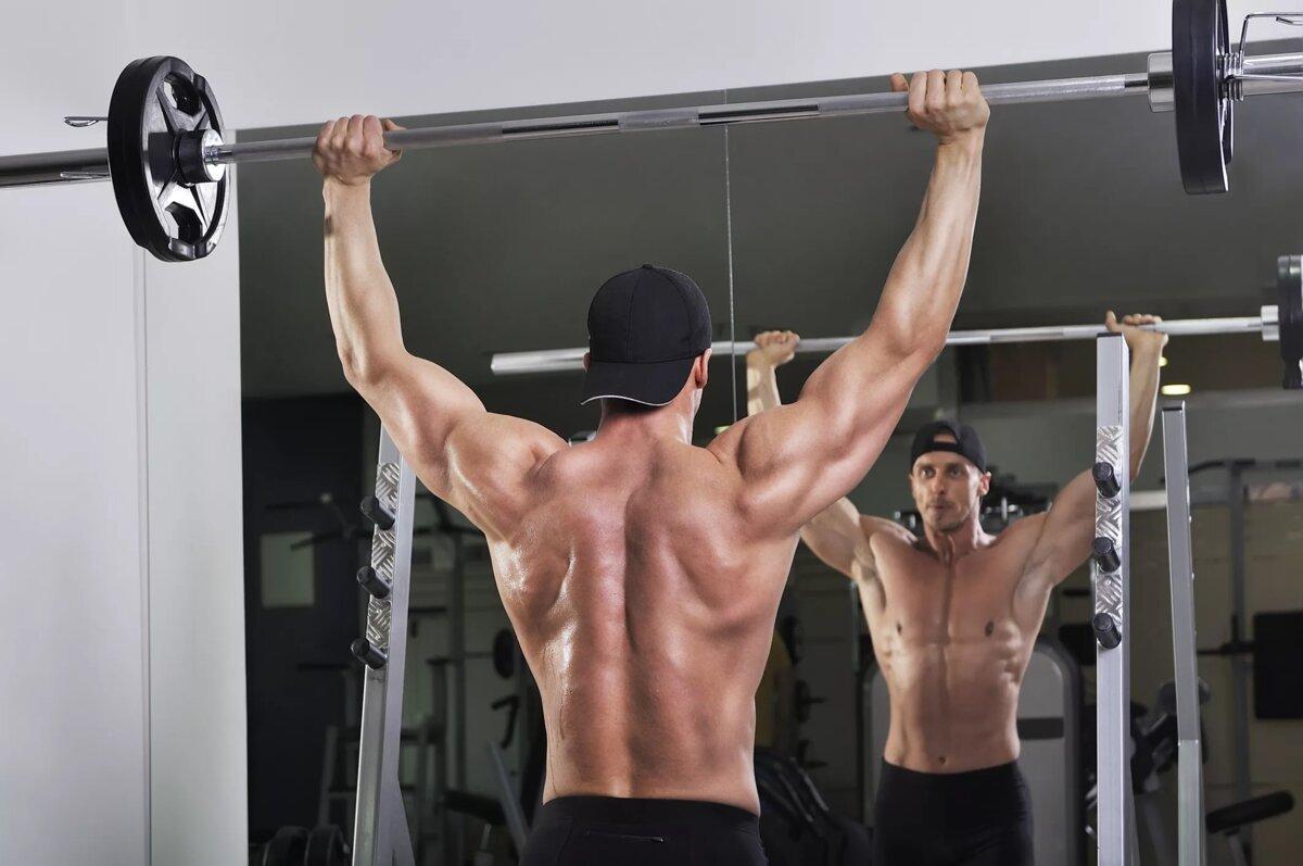 Жим штанги стоя армейский жим техника выполнения какие мышцы работают